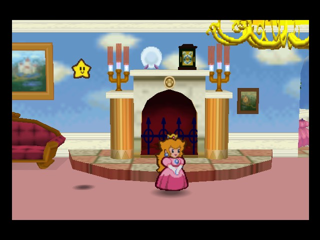 Paper Mario - Cut-Scene  - Peach is captured again...she is dumb - User Screenshot